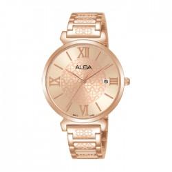 ساعة ألبا العصرية النسائية بسوار معدني - أنالوغ - 34 ملم (AG8K68X1)