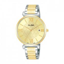 ساعة ألبا العصرية النسائية بسوار معدني - أنالوغ - 34 ملم (AG8K74X1)