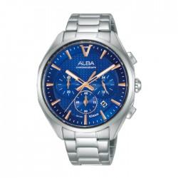 ساعة ألبا 42 ملم كرونوغراف معدنية كاجوال للرجال (AT3G81X1)