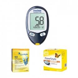 جهاز قياس السكر بالدم (7108770) + أبر وخز + شرائط من أومرون