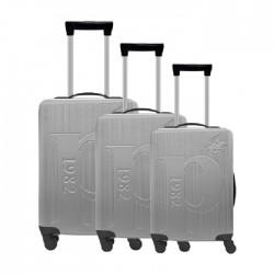 طقم حقائب عدد 3 بحجم 75.5*48*30 سم من يو اس بولو - رمادي