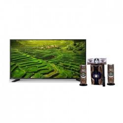 تلفزيون توشيبا ٣٢ بوصة عالي الوضوح إل إي دي - 32S2800EE + مكبر الصوت اللاسلكي ٣٠٠٠ واط بتقنية البلوتوث من إن إتش إي (NH 01-02) - أسود