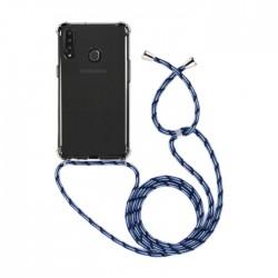 غطاء حماية سامسونج جالكسي A20S من اي كيو مع حزام أزرق