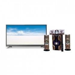 تلفزيون توشيبا إل إي دي عالي الوضوح ٣٢ بوصة - 32L5780EE + مكبر الصوت اللاسلكي ٣٠٠٠ واط بتقنية البلوتوث من إن إتش إي (NH 01-02) - أسود