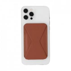 حامل ومحفظة هاتف ايفون 12 سهل التركيب من موفت - بني