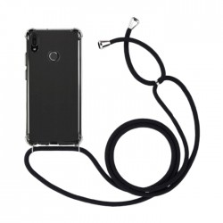 EQ Necklace String Huawei Y6 2019 Case - Black Strap