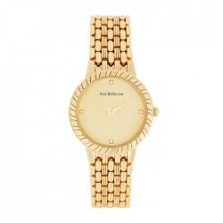 ساعة جين بليكور النسائية معدنية بعرض تناظري وحجم 32 ملم  (REDS20) - ذهبي