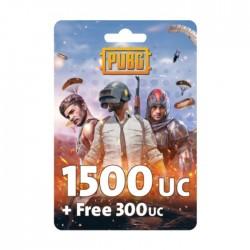 نقاط لعبة ببجي بقيمة (1500 + مجاني 300 UC)