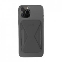 حامل ومحفظة هاتف ايفون 12 سهل التركيب من موفت - رمادي