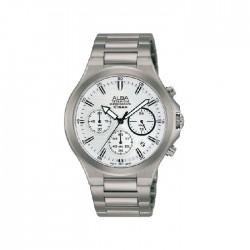 ساعة ألبا كاجوال للرجال بعرض كرونوغراف وبحجم 40 ملم وحزام معدني  (AT3G69X1)