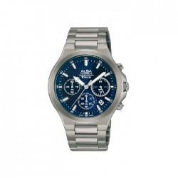 ساعة ألبا كاجوال للرجال بعرض كرونوغراف وبحجم 40 ملم وحزام معدني (AT3G67X1)