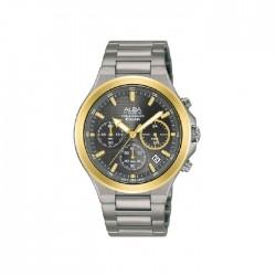 ساعة ألبا كاجوال للرجال بعرض كرونوغراف وبحجم 40 ملم وحزام معدني   - AT3G64X1