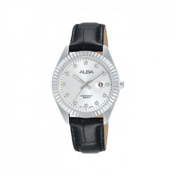 ساعة ألبا كاجوال للنساء بعرض تناظري وبحجم 32 ملم وحزام جلد     - AH7T57X1