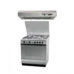 طباخ الغاز القائم من إنديست ٦٠ × ٦٠ سم - ٤ عيون + شفاط الطباخ