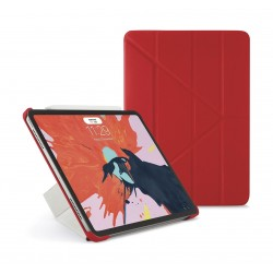 Pipetto Origami Folding Case and Stand for Apple iPad Pro 11-inch 2018 - Red