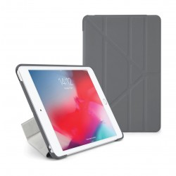 Pipetto Origami Folding Case and Stand for Apple iPad Mini 5 2019 - Grey