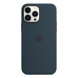 Apple iPhone 13 Pro MagSafe Silicone Case dark Abyss Blue buy xcite kuwait
