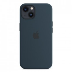 Apple iPhone 13 Mini MagSafe Silicone Case dark Abyss Blue buy in xcite kuwait