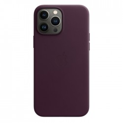 Apple iPhone 13 Pro Max MagSafe Leather Case Dark Cherry purple buy in xcite kuwait