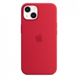Apple iPhone 13 Mini MagSafe Silicone Case Red buy in xcite kuwait
