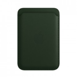 Apple iPhone Leather Wallet with MagSafe dark Sequoia Green buy in xcite kuwait