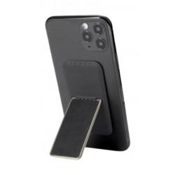 HANDLstick Smooth Leather Smartphone Holder- Black/Gold