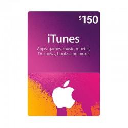 بطاقة ايتونز ١٥٠ دولار (متجر أمريكي) - إرسال فوري للرمز (prepaid_card)
