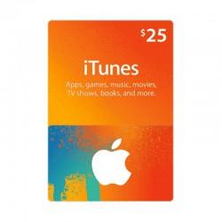 بطاقة ايتونز ٢٥ دولار (متجر أمريكي) - إرسال فوري للرمز (prepaid_card)