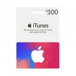 بطاقة ايتونز ٣٠٠ دولار (متجر أمريكي) - إرسال فوري للرمز (prepaid_card)