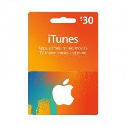 بطاقة ايتونز ٣٠ دولار (متجر أمريكي) - إرسال فوري للرمز (prepaid_card)
