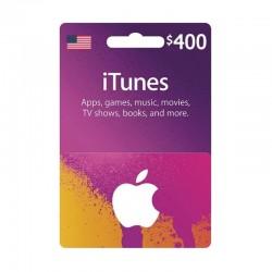 بطاقة ايتونز ٤٠٠ دولار (متجر أمريكي) - إرسال فوري للرمز (prepaid_card)