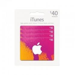 بطاقة ايتونز ٤٠ دولار (متجر أمريكي) - إرسال فوري للرمز (prepaid_card)