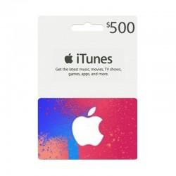 بطاقة ايتونز ٥٠٠ دولار (متجر أمريكي) - إرسال فوري للرمز (prepaid_card)
