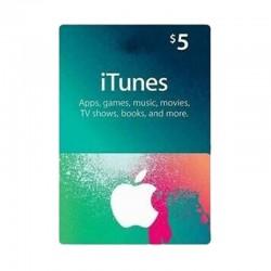 بطاقة ايتونز ٥ دولار (متجر أمريكي) - إرسال فوري للرمز (prepaid_card)