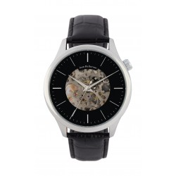 Jean Bellecour 45mm Auto Squette Analog Gent's Leather Watch - JB1125