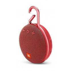 JBL Clip 3 Wireless Portable Bluetooth Speaker - Red