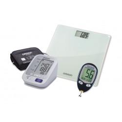 جهاز ضغط الدم + ميزان رقمي من أومرون + جهاز قياس سكر الدم فريدم ليت من فري ستايل