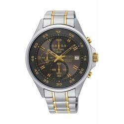 ساعة سيكو كوارتز للرجال بعرض كرونوغراف وسوار معدني - فضي (KS631P)