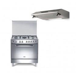 طباخ الغاز القائم من ونسا ٥٠ × ٨٠ سم - ٥ عيون + شفاط الطباخ من لاجرمانيا - ٨٠ سم