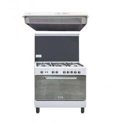 طباخ الغاز ونسا ٩٠ × ٦٠ + شفاط الطباخ المثبت أسفل الخزانة من لاجرمانيا - ٩٠ سم
