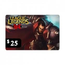 بطاقة ليج اوف ليجينس - 25 دولار (أمريكا الشمالية)