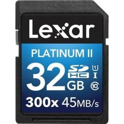 بطاقة ذاكرة إس دي إتش سي بلاتنيم ٢ من ليكسر - ٣٢ جيجابايت - LSD32GBBEU300