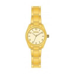 ساعة جوفيال العصرية للسيدات بعرض تناظري – سوار معدني – وردي  (LR2010-10)