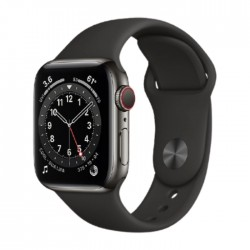Apple Watch Series 6 Cellular 40mm Stainless Steel Case with Sport Band in Kuwait   Buy Online – Xcite
