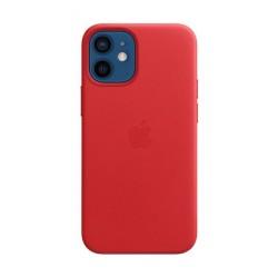غطاء الحماية ماج سيف جلد لهاتف أبل آيفون 12 ميني - أحمر