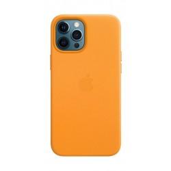 غطاء الحماية ماج سيف جلد لهاتف أبل آيفون 12 برو ماكس - برتقالي