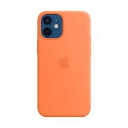 غطاء الحماية ماج سيف سيليكون لهاتف أبل آيفون 12 ميني - برتقالي خوخي