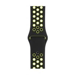 حزام نايكي الرياضي سلسلة ٤ لساعة أبل - ٤٠ ملم - أسود / ليموني (MTMN2ZM/A)