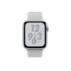 ساعة ابل الجيل الرابع - ٤٠ ملم - جي بي إس + خلوي - هيكل من الألمنيوم مع حزام أبيض (MTX72)