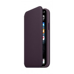 Apple iPhone 11 Pro Leather Folio Case - Aubergine 2